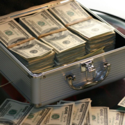 Suitcase full of cash